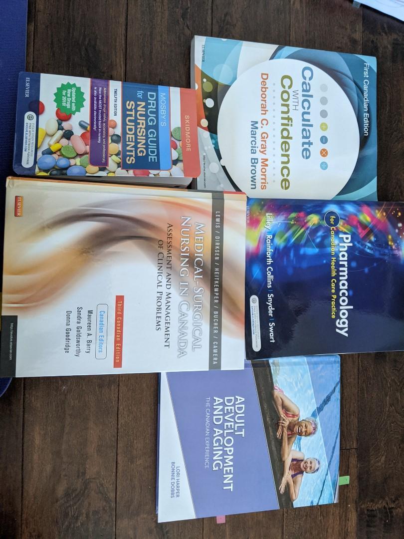Ryerson 2nd year Nursing Textbooks