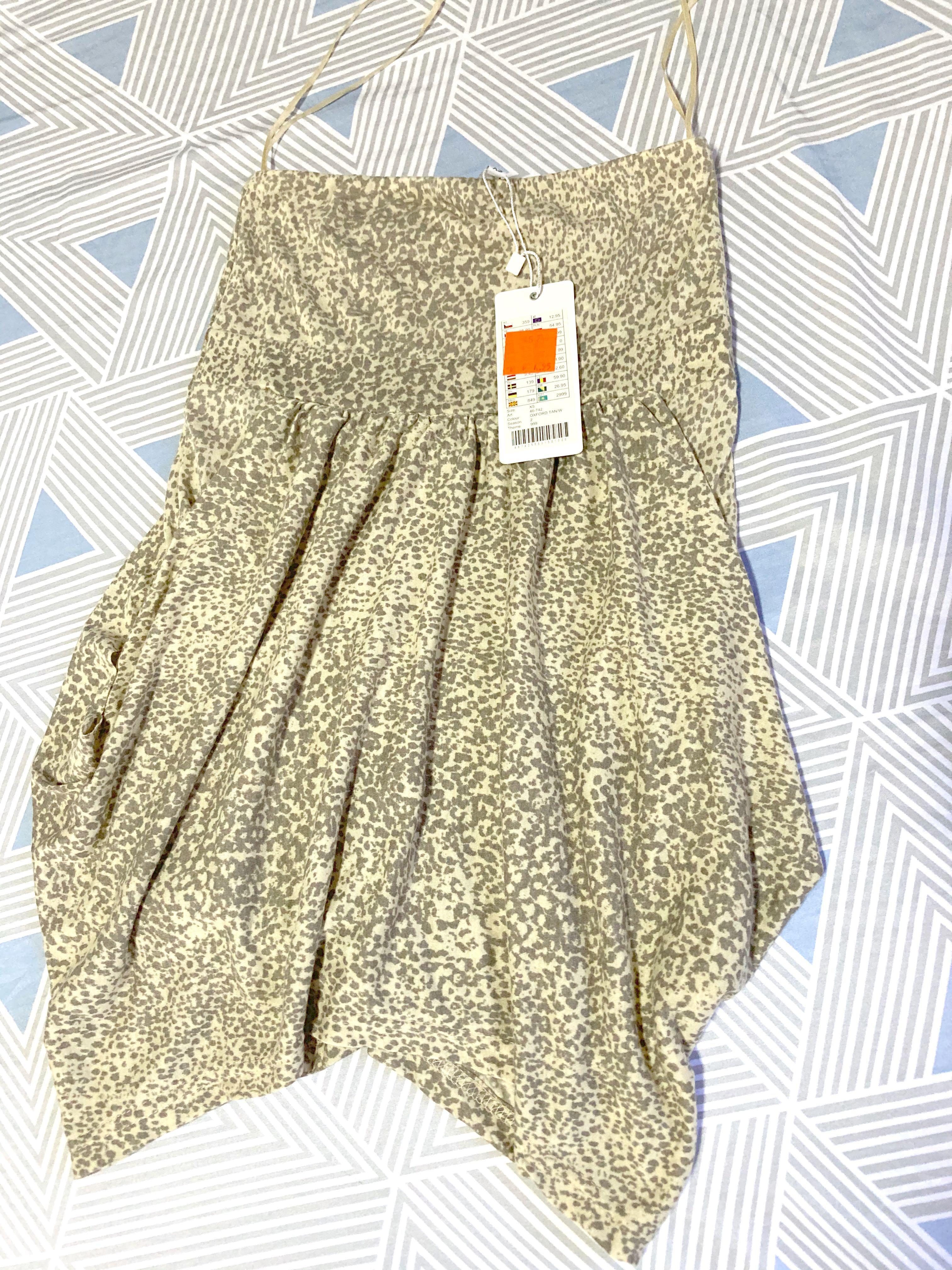 豹紋米色裙