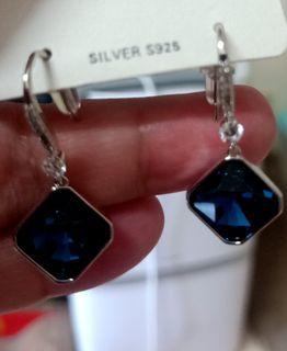 新品 韓式 深藍 耳環