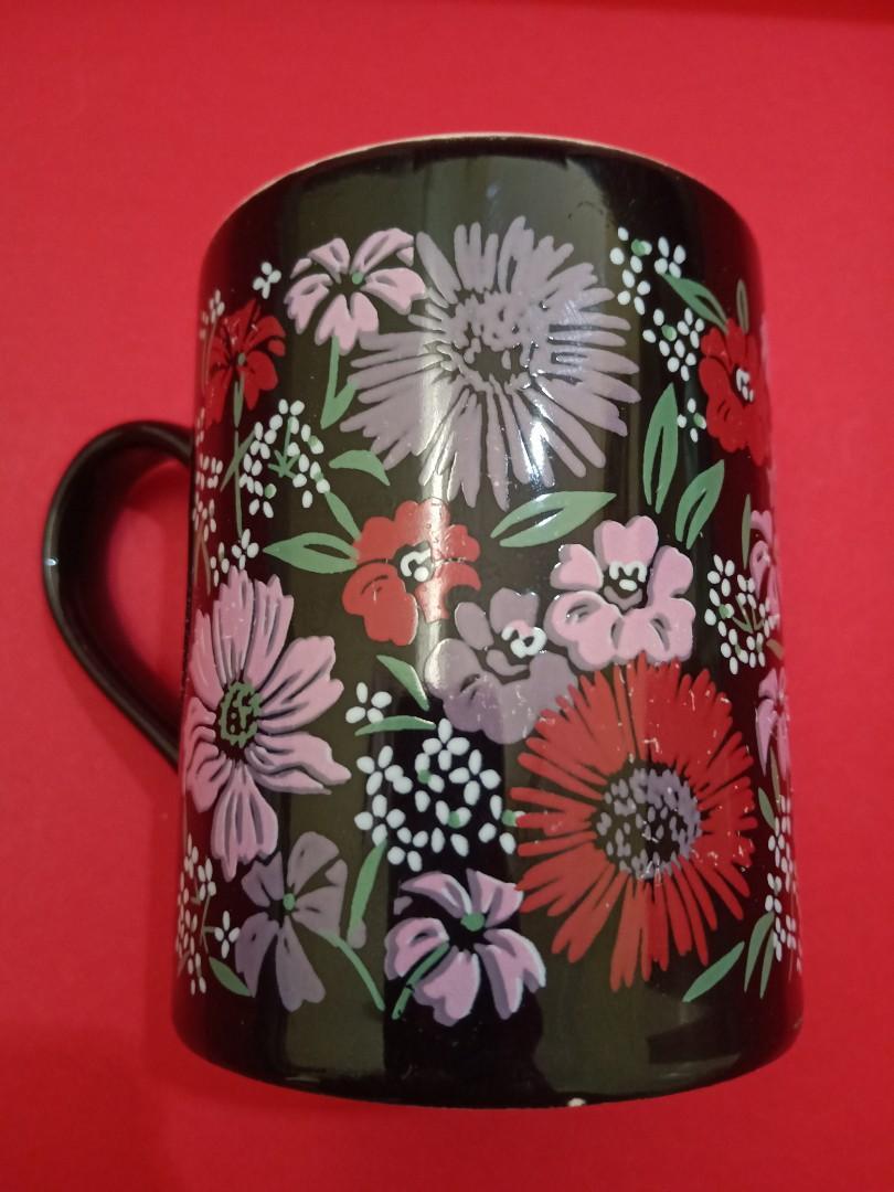 #agustus2020 Kiln Craft Mug Black Floral