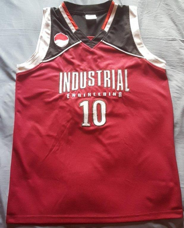 Basketball Jersey kaos baju basket player issue warna merah hitam size L fit M UpTo XL