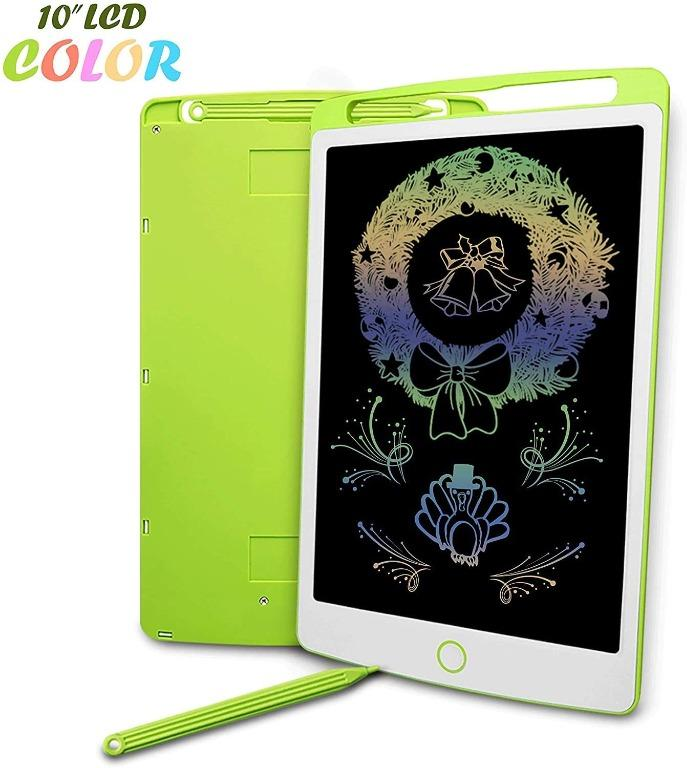 12 Inch Colourful LCD Writing Tablet Black Colorful Screen Digital eWriter Electronic Graphics Tablet Portable Writing Board Handwriting Doodle Drawing Pad for Kids Adult Home School Office