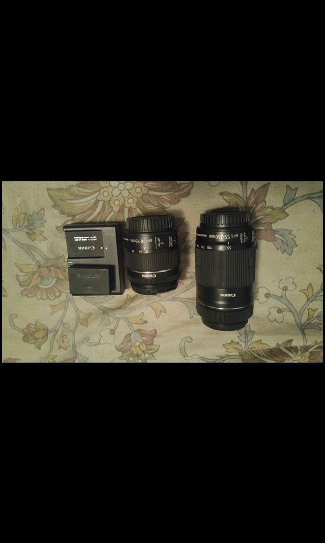 Canon lens kit + DSLR battery