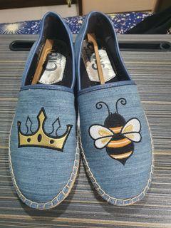 Circus 蜜蜂鞋 (牛仔藍)草編平底鞋