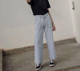 CULOTTE HIGHWAIST JEANS / Mom jeans