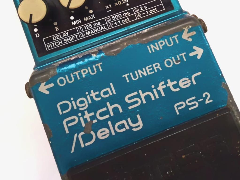 Delay Echo Pitch Shifter BOSS PS2 by Roland efek gitar guitar bass mixer