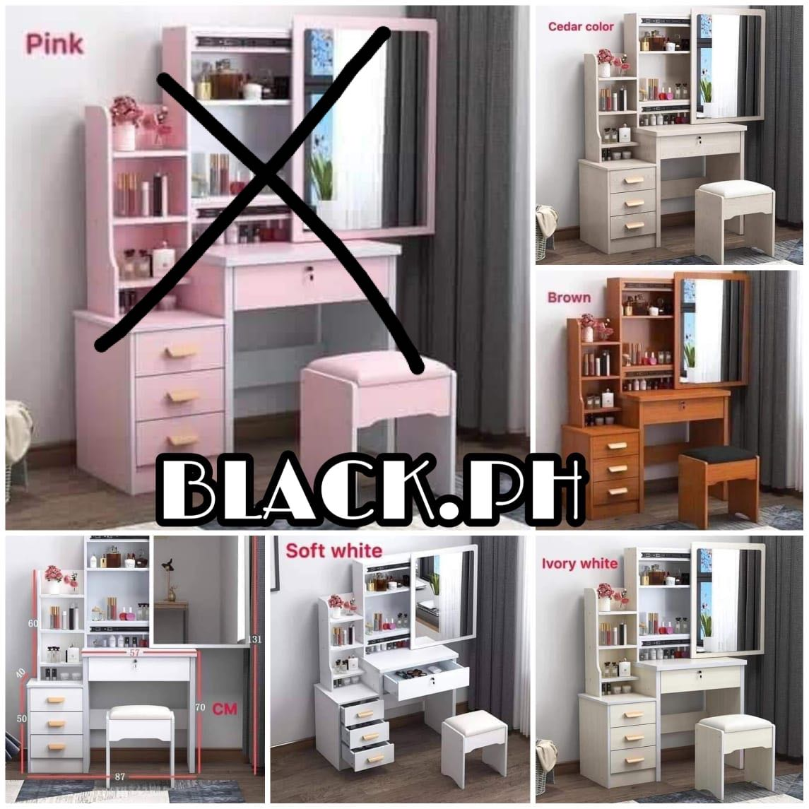Diy Vanity Table Home Furniture Furniture Fixtures Shelves Drawers On Carousell