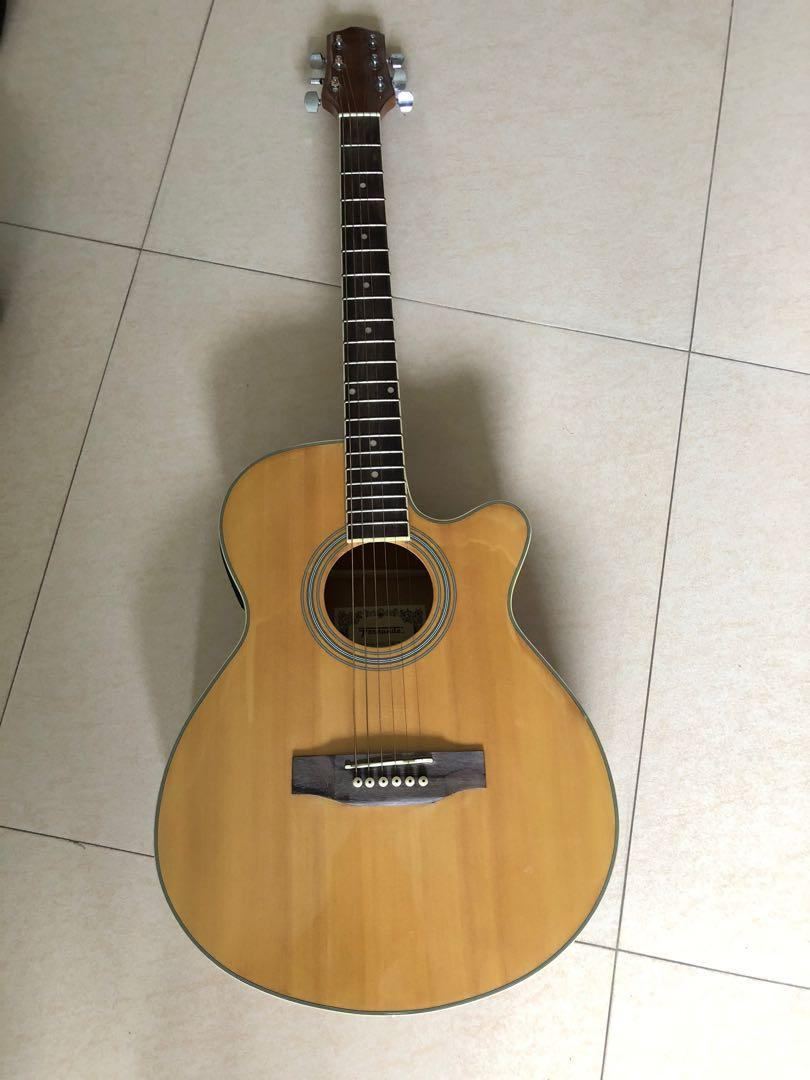Fernando Acoustic Guitar With Eq And Af St Tuner Music Media Music Instruments On Carousell