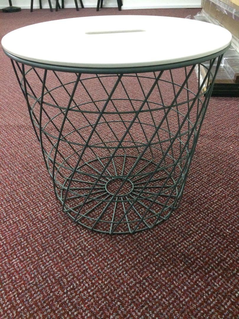 Ikea Wire Side Basket Table Furniture Tables Chairs On Carousell