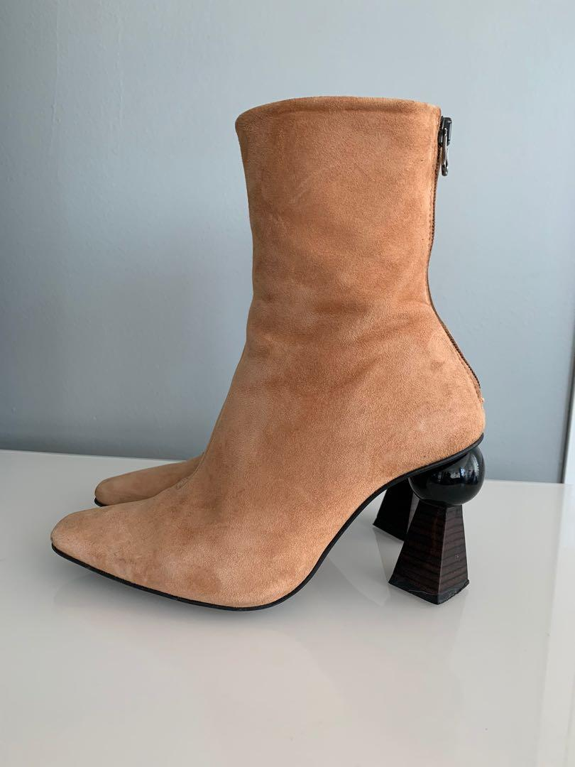 L'Intervalle Suede Boots Size 37
