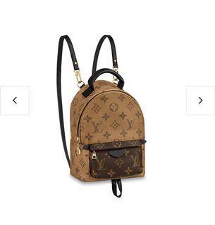 LV Louis Vuitton palm spring mini 拼色後背包