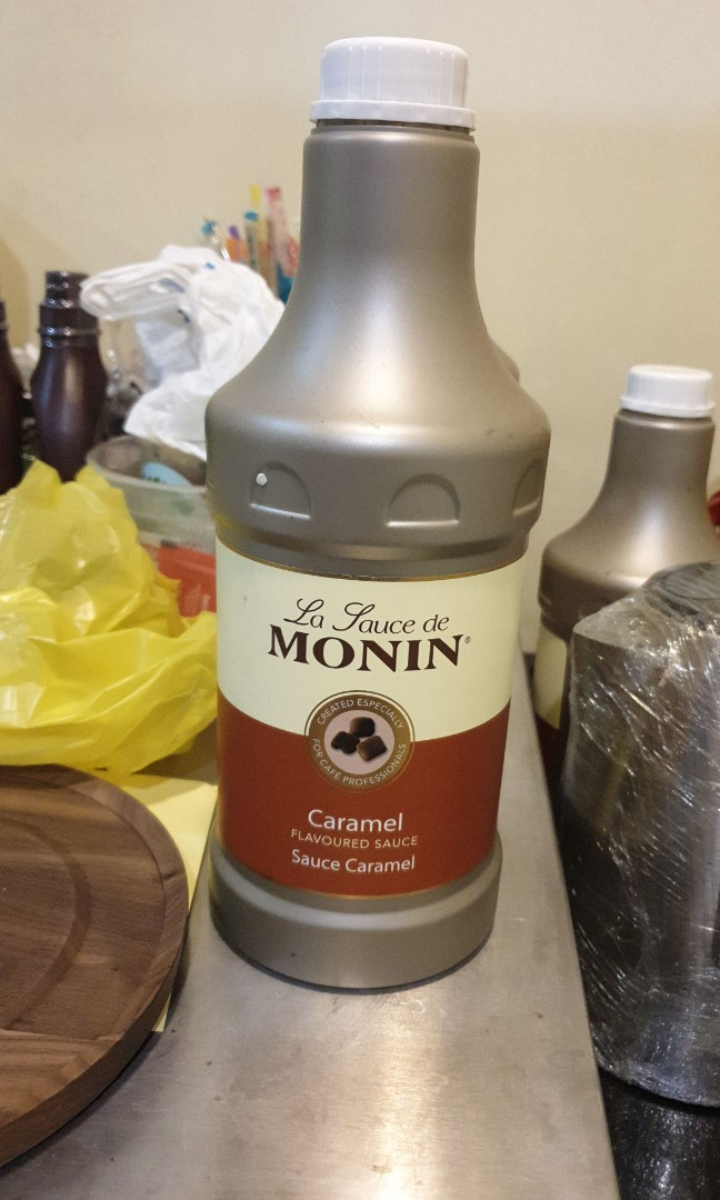 Monin Caramel Sauce Last Bottle Food Drinks Beverages On Carousell