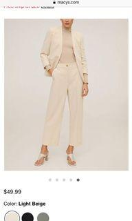 New with tags Mango cropper pants
