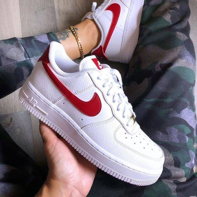 Air Force 1 red tick, Men's Fashion