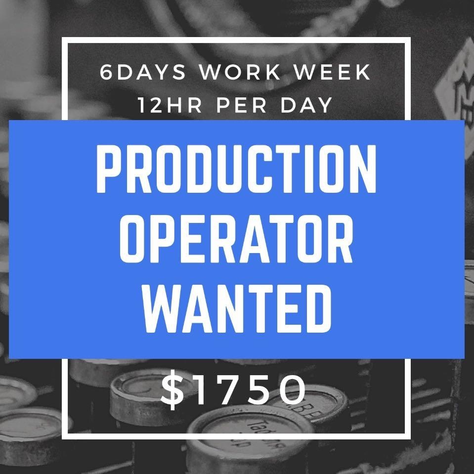 PRODUCTION OPERATOR