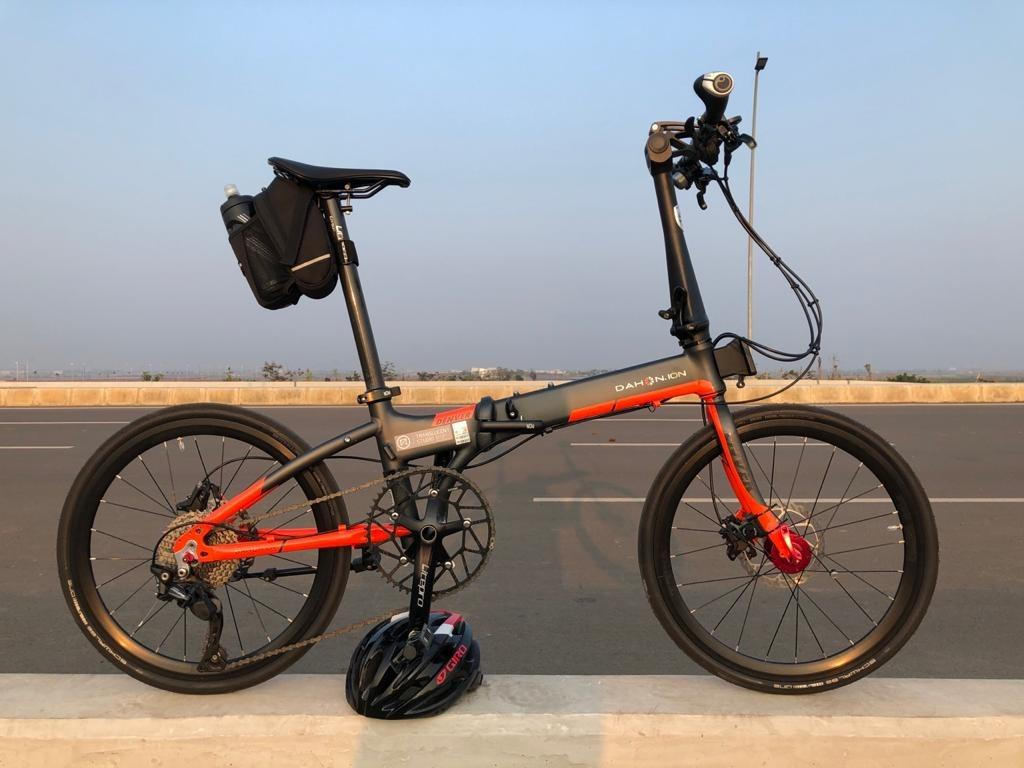 Sepeda Lipat Dahon Ion Denver (grey strip orange ) 2020