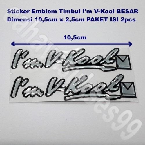 Sticker Mobil Emblem Timbul Im VKOOL 10,5cm x 2,5cm PAKET 1set 2pcs Stiker Emblem MOBIL Stiker Kaca Mobil New Ready Stock