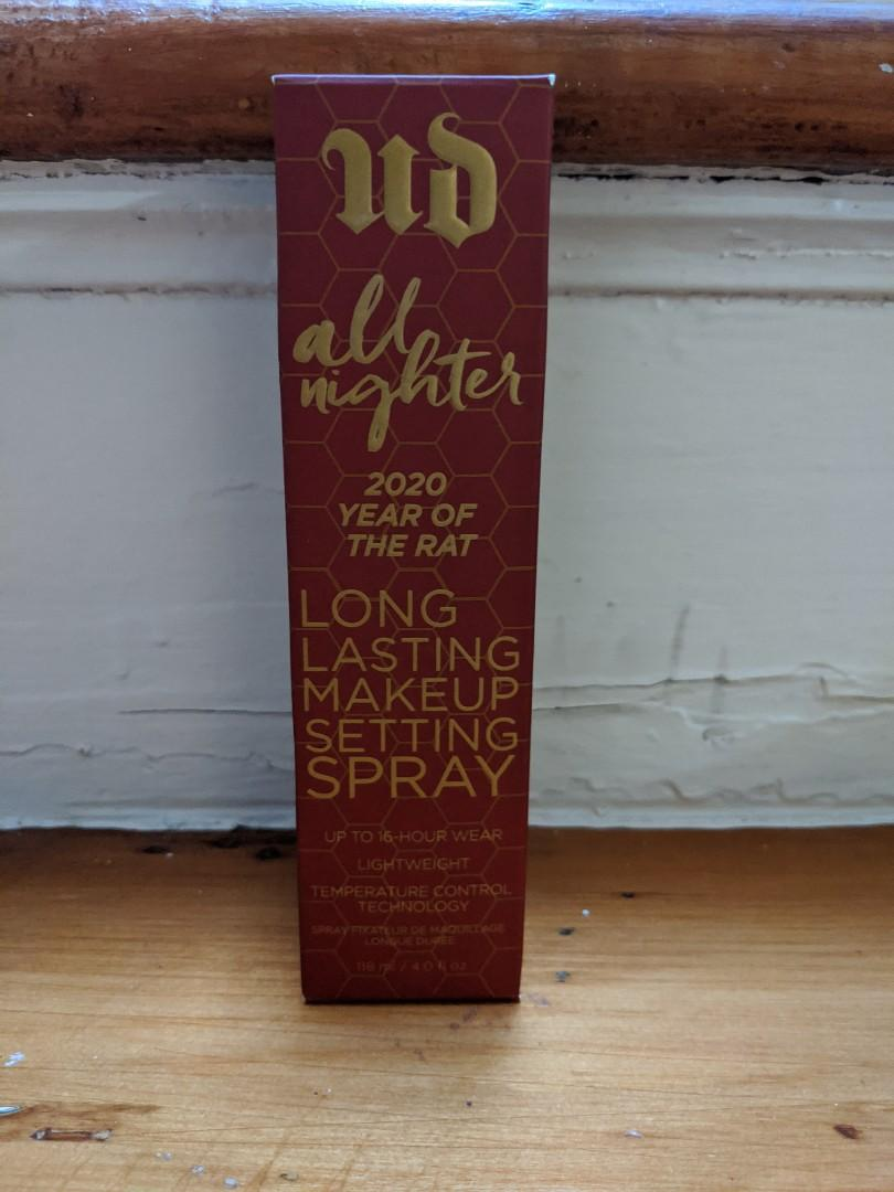 Urban Decay: Limited Edition Lunar New Year [2020 lYear of The Rat] All Nighter Setting Spray
