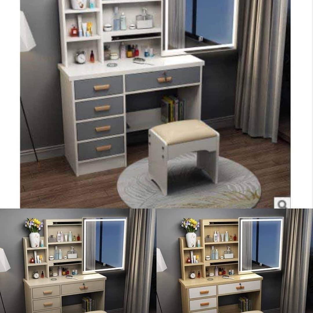 Vanity Table Dresser 4 Layers Drawers With Led Lights Home Furniture Furniture Fixtures Tables Chairs On Carousell