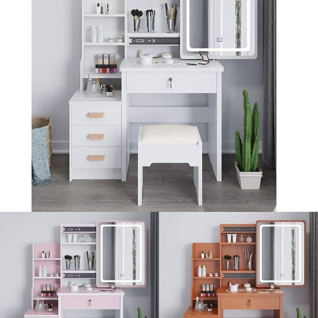Vanity Table Dresser With Led Lights Home Furniture Furniture Fixtures Tables Chairs On Carousell
