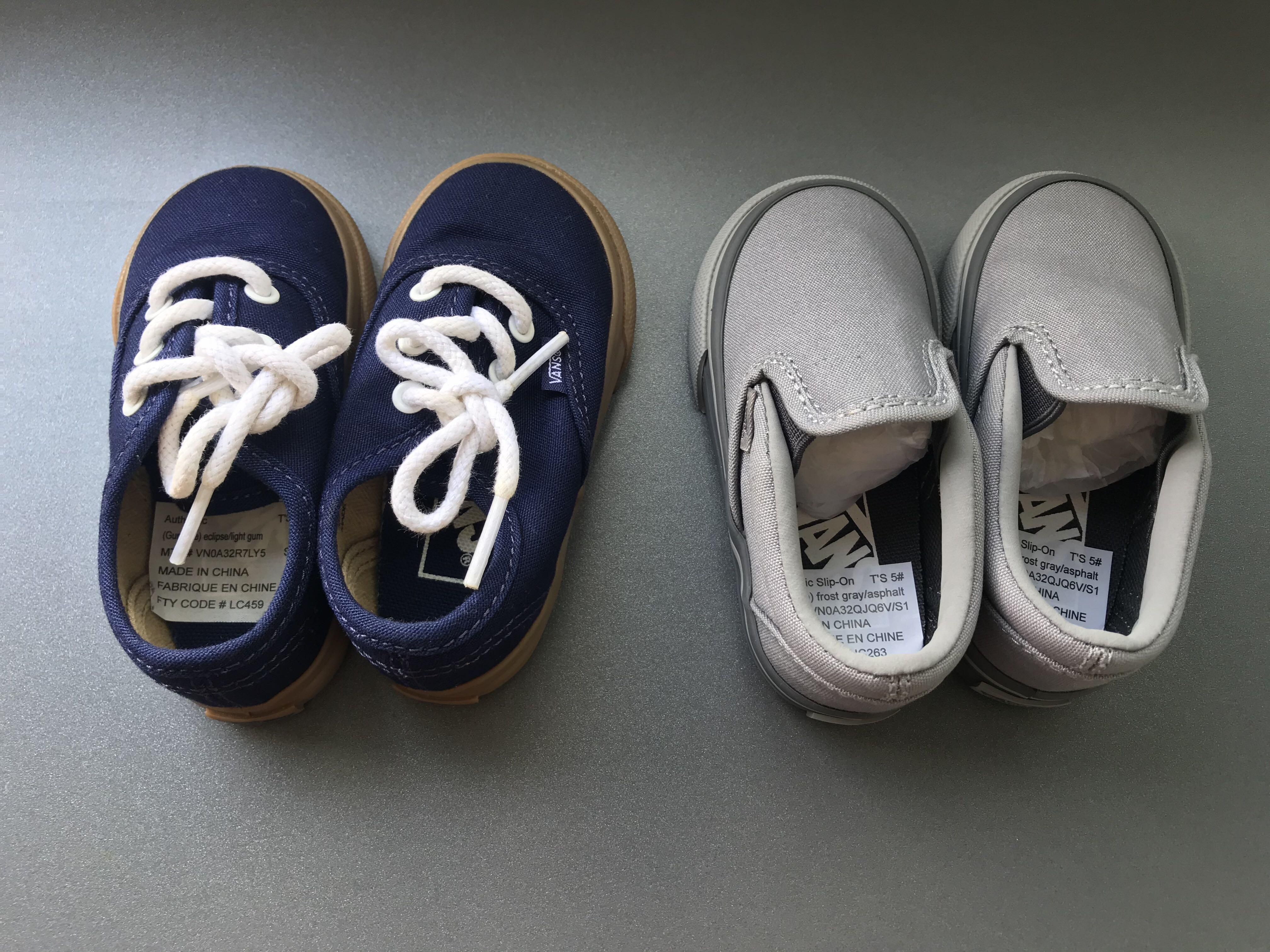 Vans toddler shoes US size 5, Babies