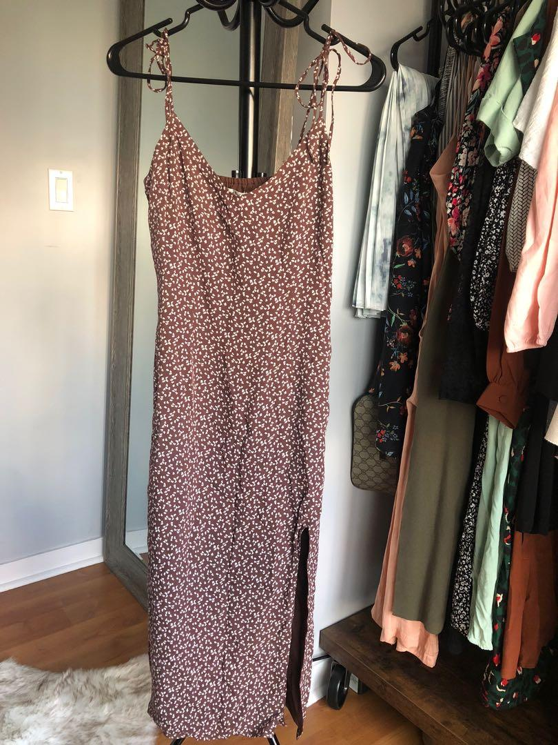 XS Summer dress with tie up spaghetti straps