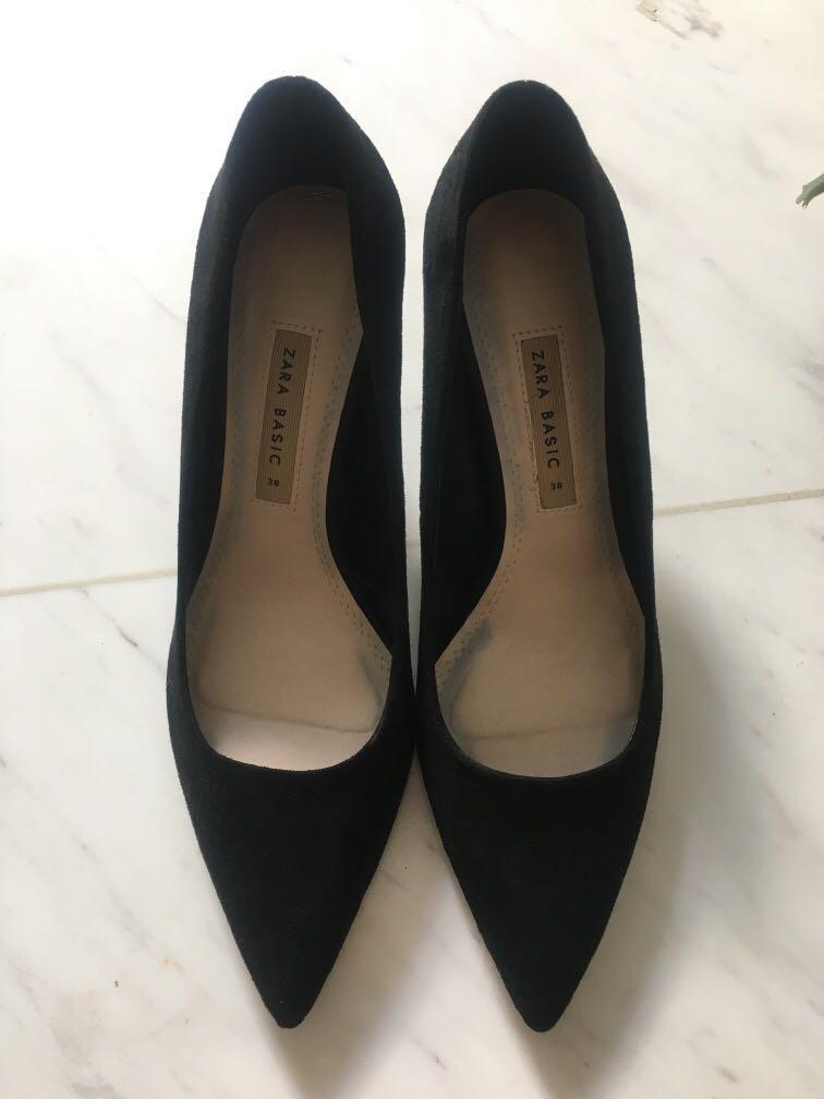 ZARA Black heels, Women's Fashion