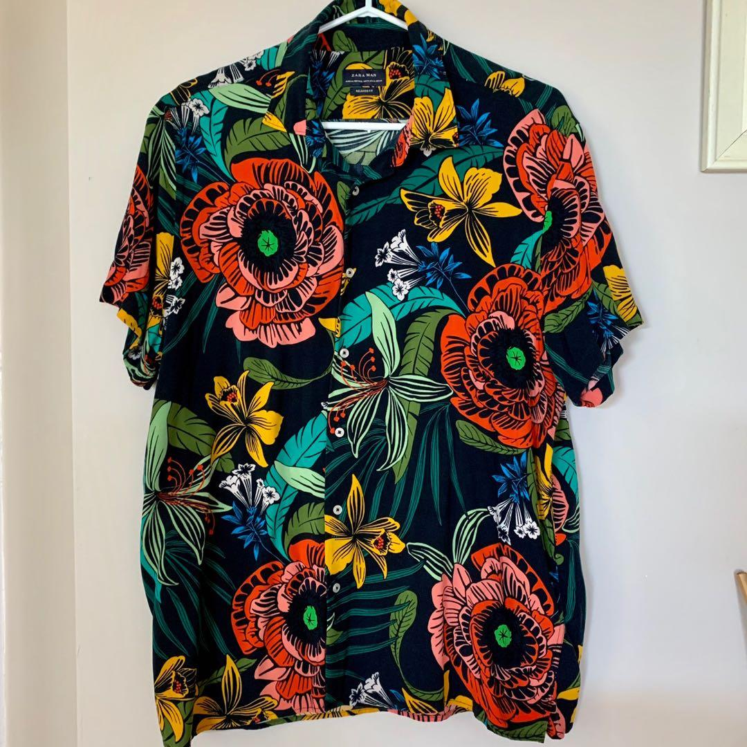 ZARA Men's Tropical / Hawaiian Shirt