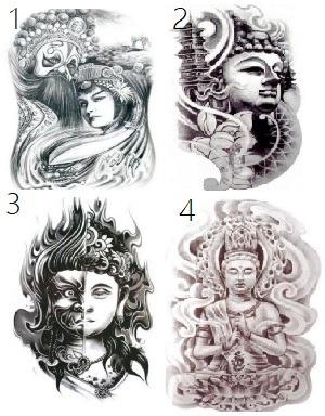 40 Designs Body Art Japanese Girl 3d Waterproof Temporary Tattoos Sexy Stickers 21x15 Cm Design Craft Others On Carousell