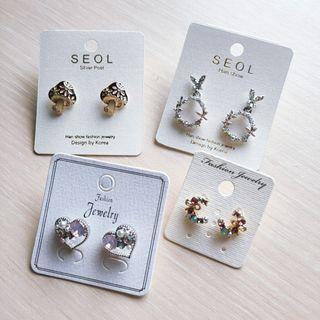 🦦韓國設計 耳環(耳針)