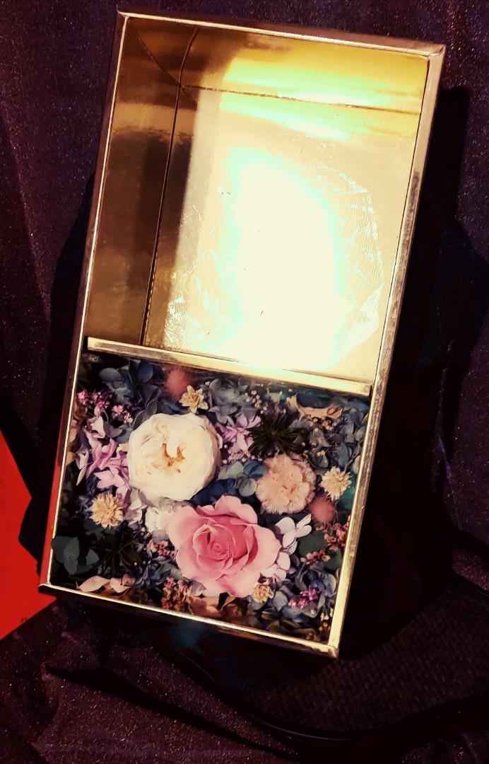 花藝禮盒 粉白色系