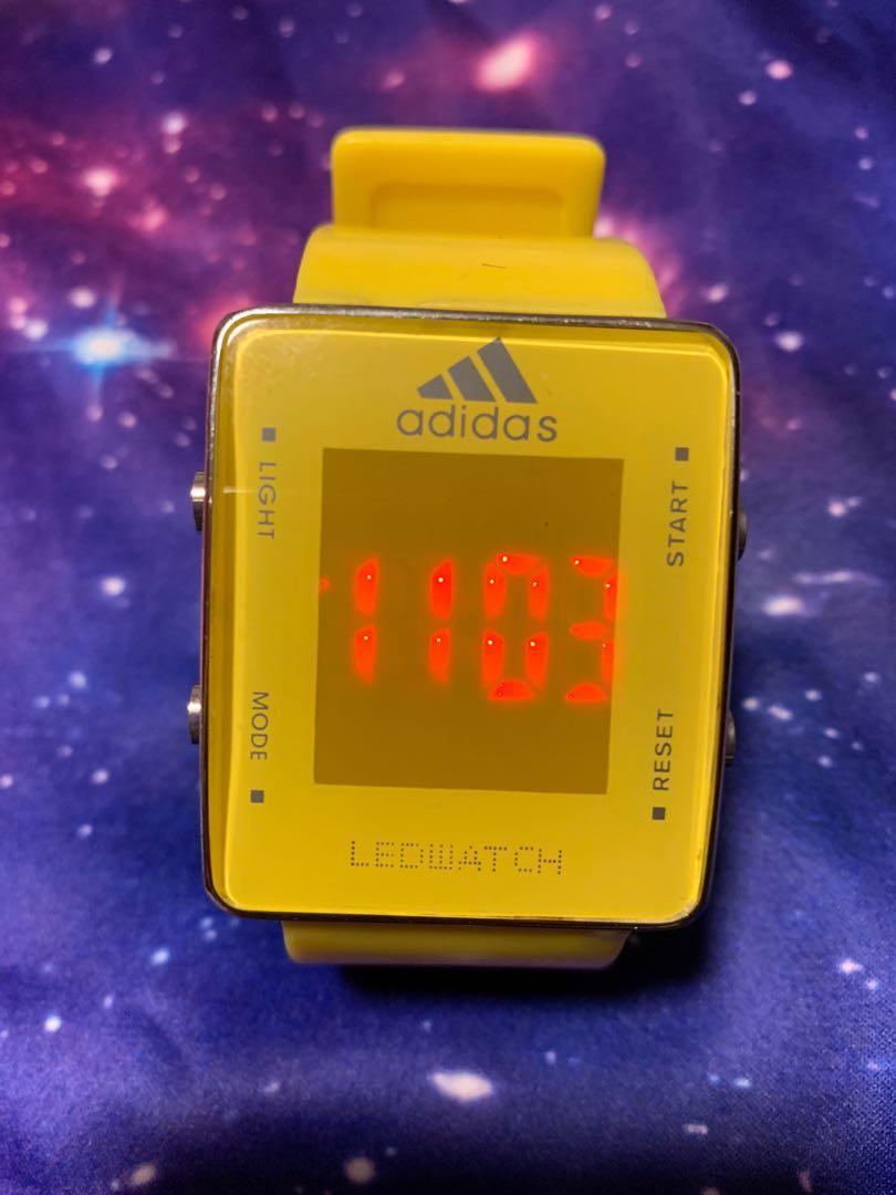 Adidas lemon bright yellow led vintage watch