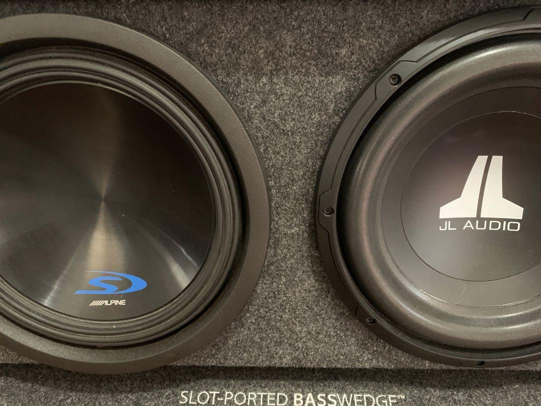 Alpine type-s + jl audio car subwoofer system
