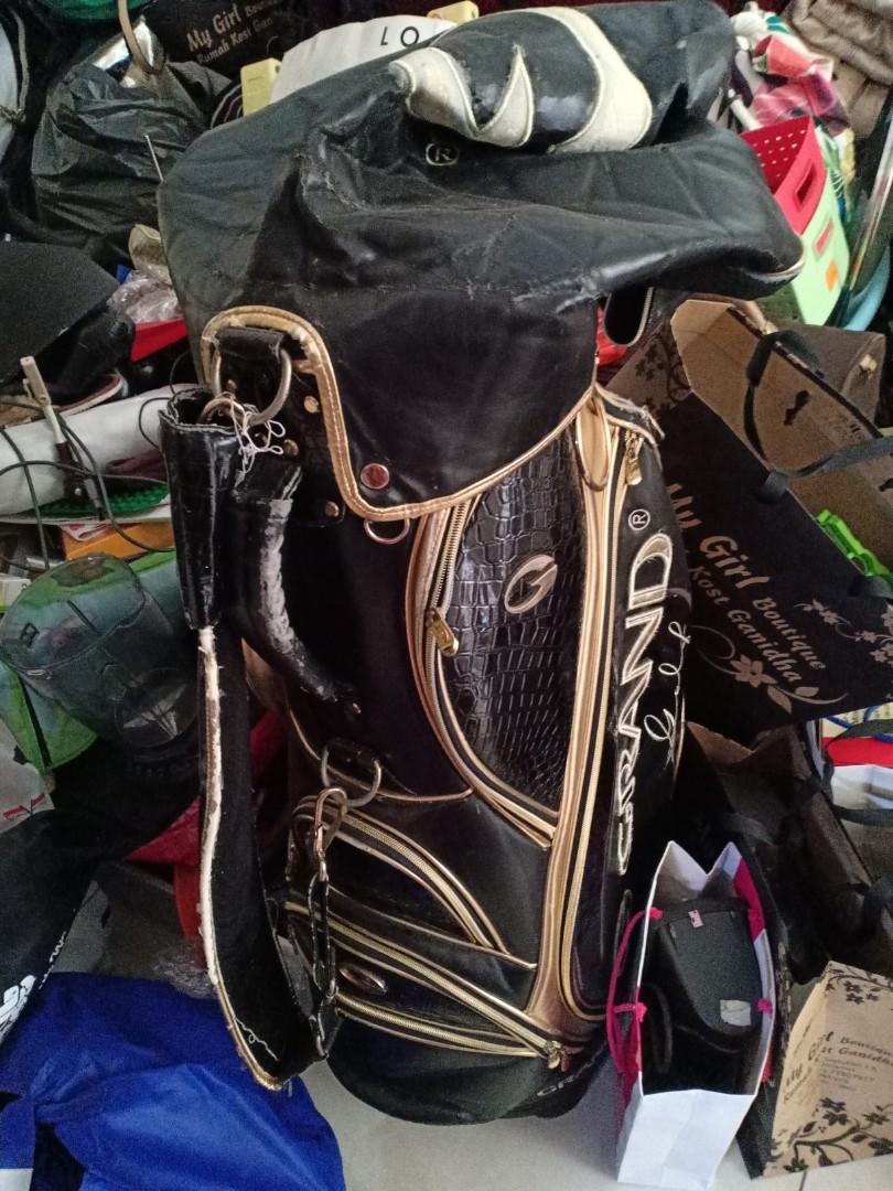 Bag golf grand golf gold black , kelupas d bbrp , 100rb
