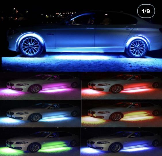 Car neon underbody glow led lights with remote changer