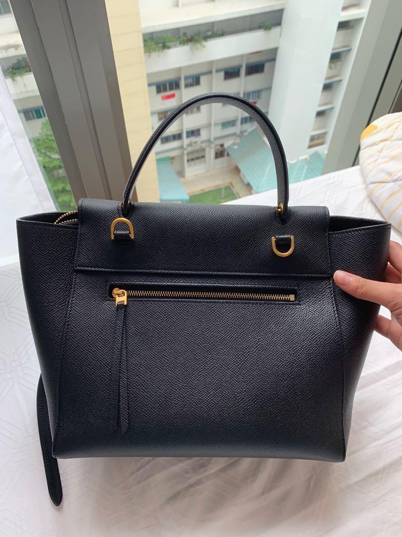 Celine Belt Bag Micro In Black Authentic Women S Fashion Bags Wallets Handbags On Carousell