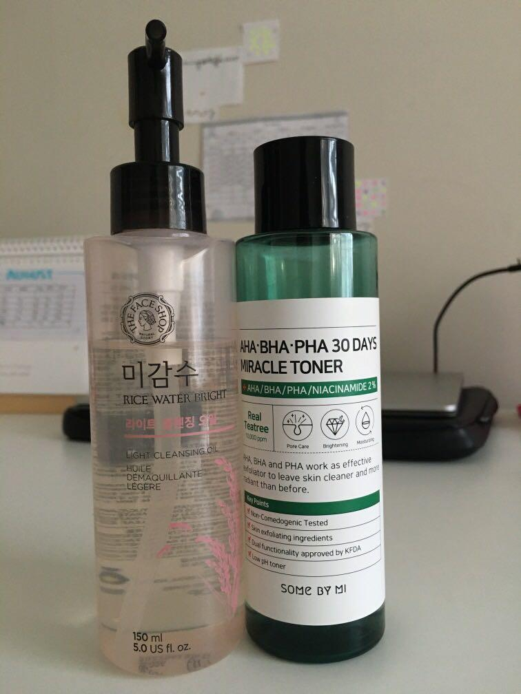Cleanser and Toner from Hikoco