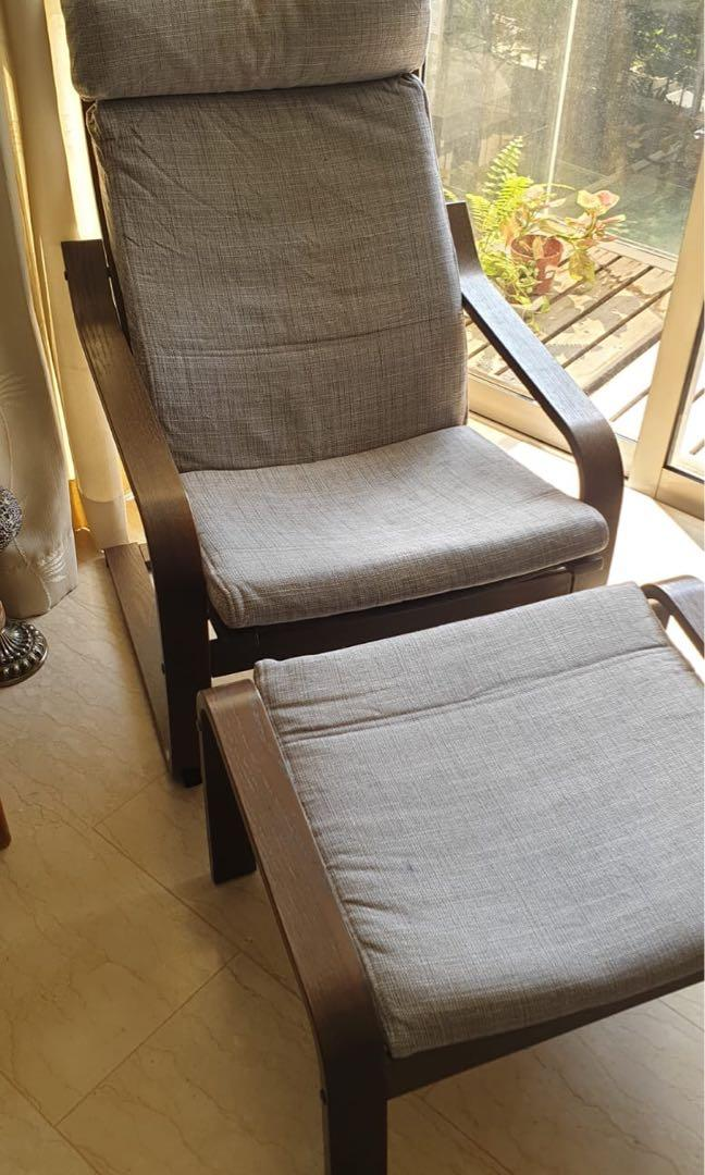 Comfy Ikea Chair With Footrest Furniture Tables Chairs On Carousell