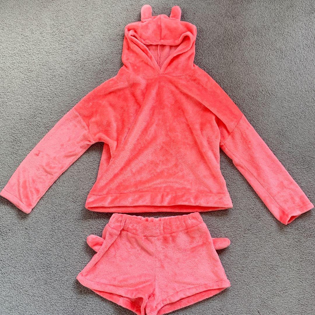 cute cat pajama set