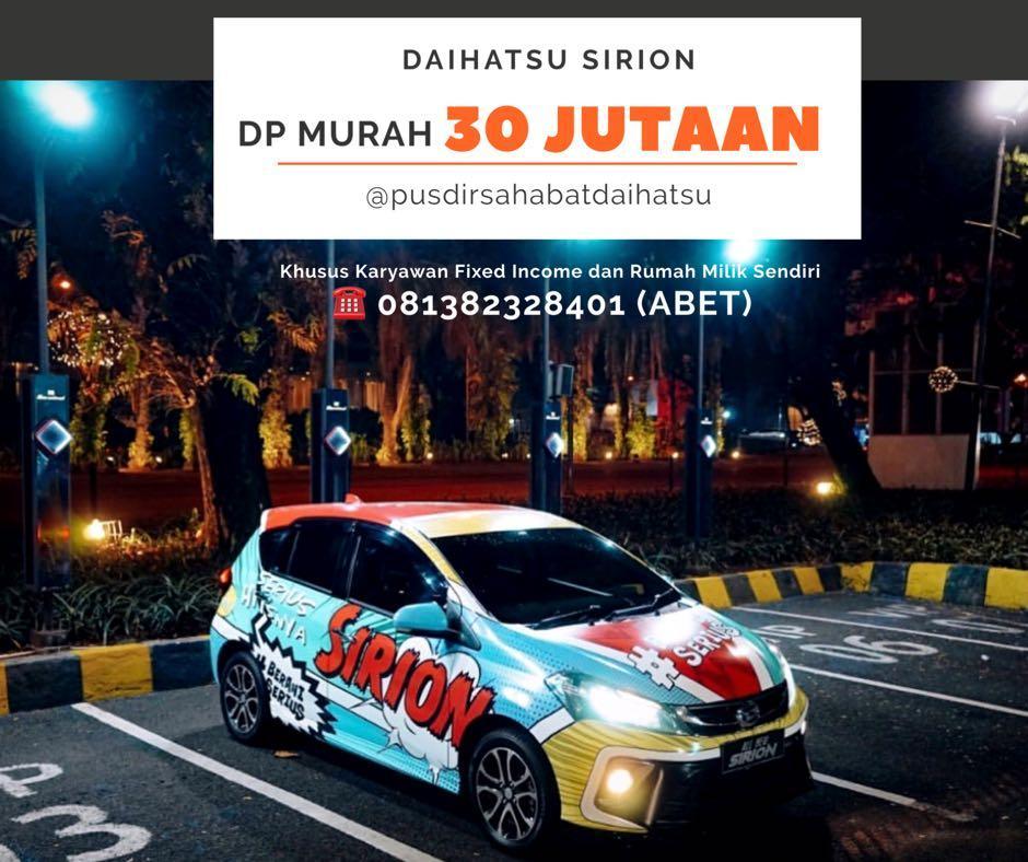 DP MURAH Daihatsu Sirion mulai 30 jutaan. Daihatsu Fatmawati