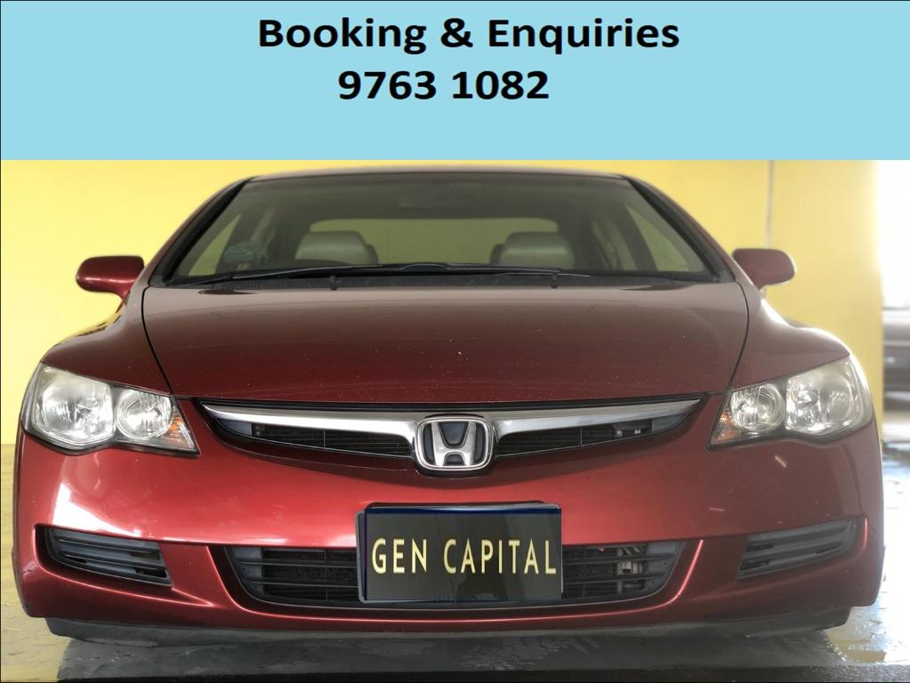 Honda Civic ! Budget ! Cheap car for rent ! Promotion price ! Deposit only @ $500 . Whatsapp 9763 1082 to reserve yours now !