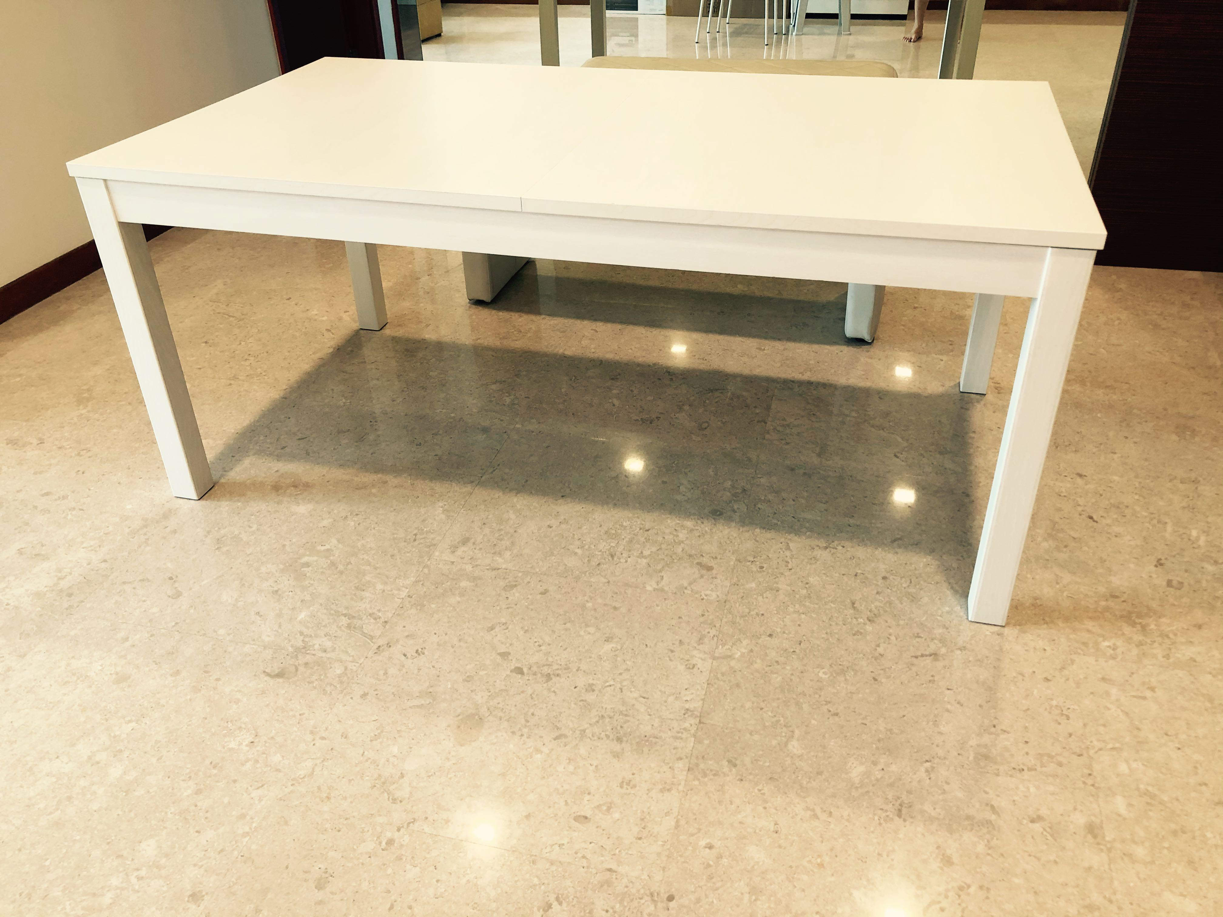 Ikea Bjursta Extendable Dining Table 6 10 Seater Furniture Tables Chairs On Carousell