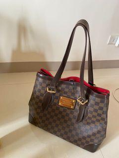 louis Vuitton 專櫃正品 LV 限量 經典 棋盤格 肩背包 側背包 方包 梯型 購物袋 西班牙製造