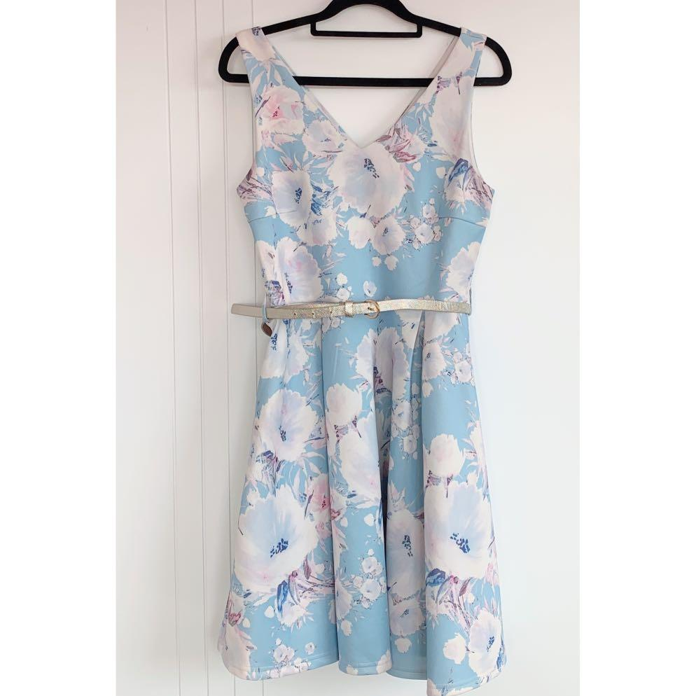 Mirrou flora dress with belt - m