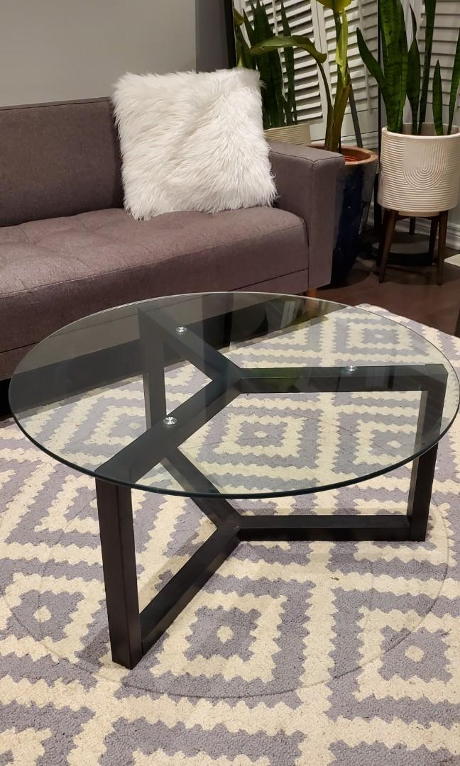 Modern Glass Round Coffe Table