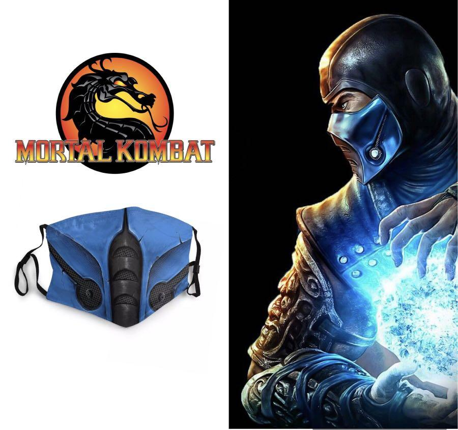 sub zero mortal kombat face mask