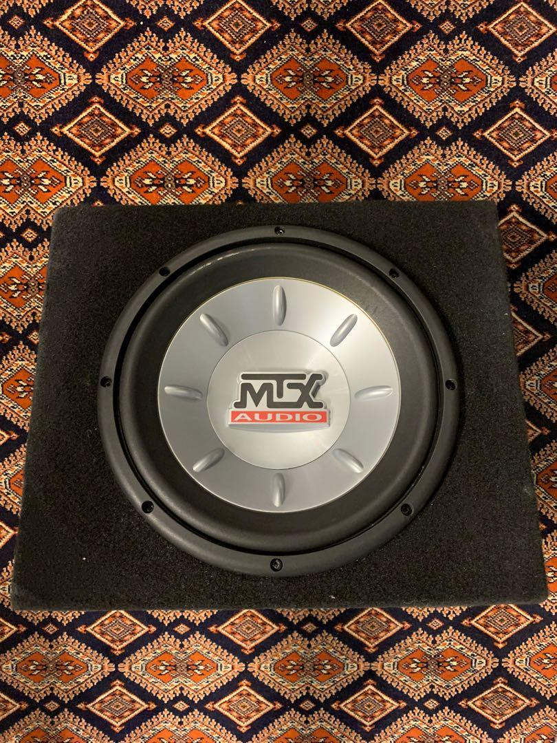 "Mtx car subwoofer single 10"" sub with custom made box"