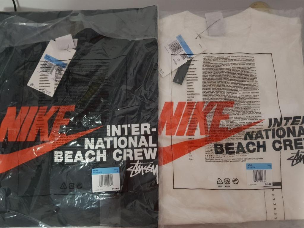 Nike X Stussy International Beach Crew T Shirt Men S Fashion Clothes Tops On Carousell