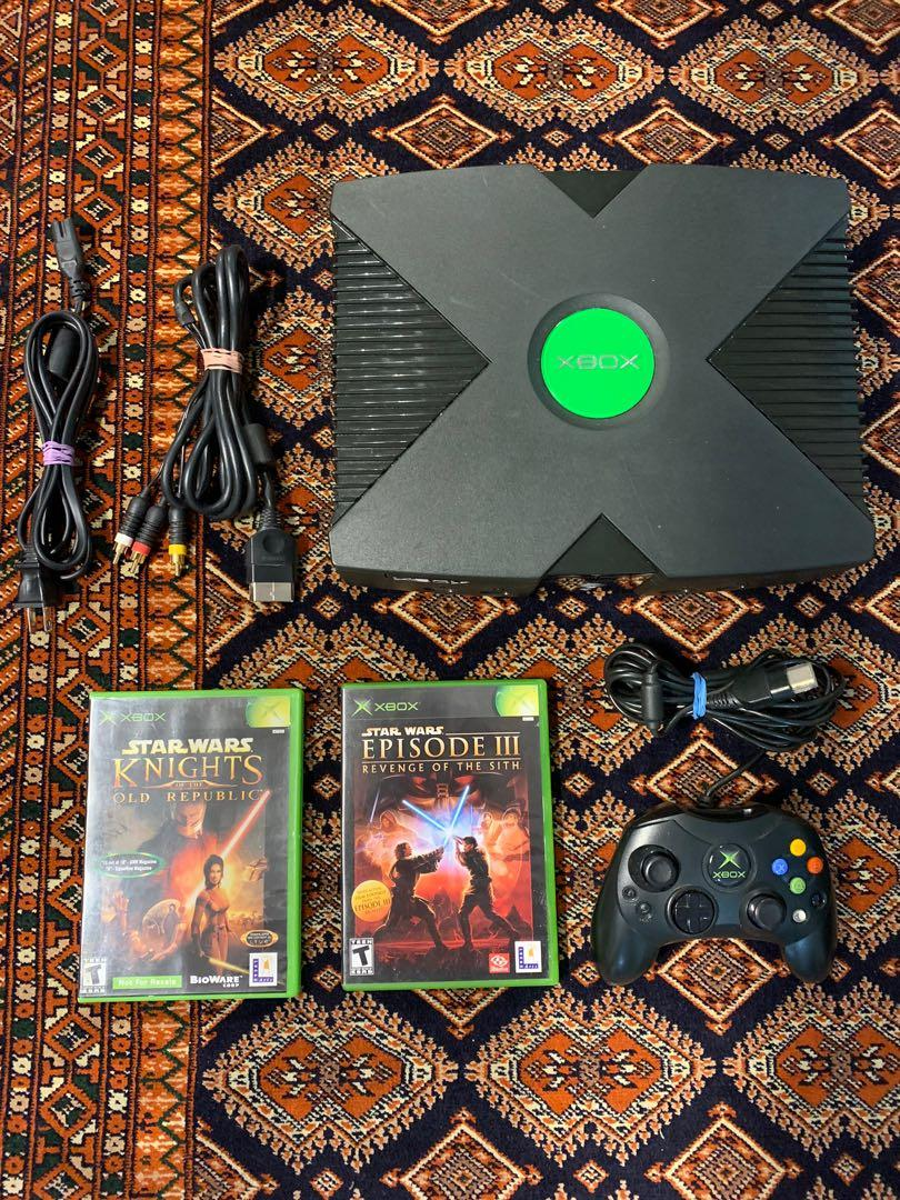 Original Xbox console and games Star Wars bundle rare