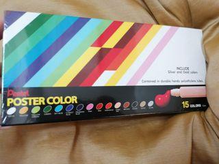 Pentel Poster Colour15色廣告彩